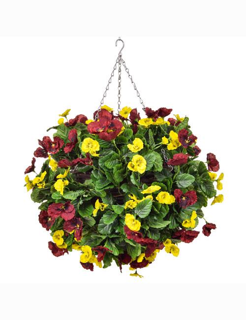 Hanging Basket Red Yellow